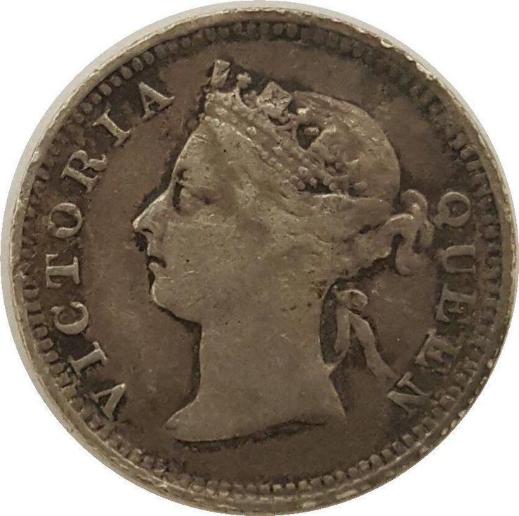 1886 Victoria Hong Kong Silver 5 Cents | Rare British - Hong Kong Coin