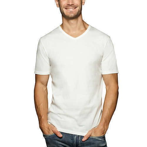 97a246773b64 Buffalo David Bitton Men's 3-Pack V-Neck Classic Fit Cotton T-shirt ...
