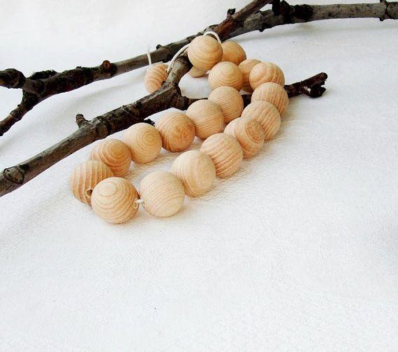 20 pcs 20 mm Natural wooden beads 20 mm  by MiracleFromThreads, $3.00