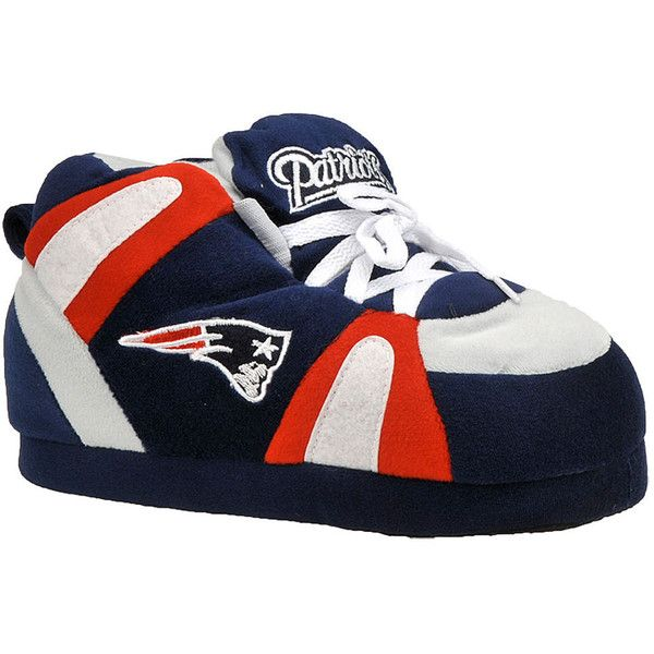 Happy Feet New England Patriots NFL Blue Slipper S M ($32) ❤ liked on Polyvore featuring shoes, slippers and blue