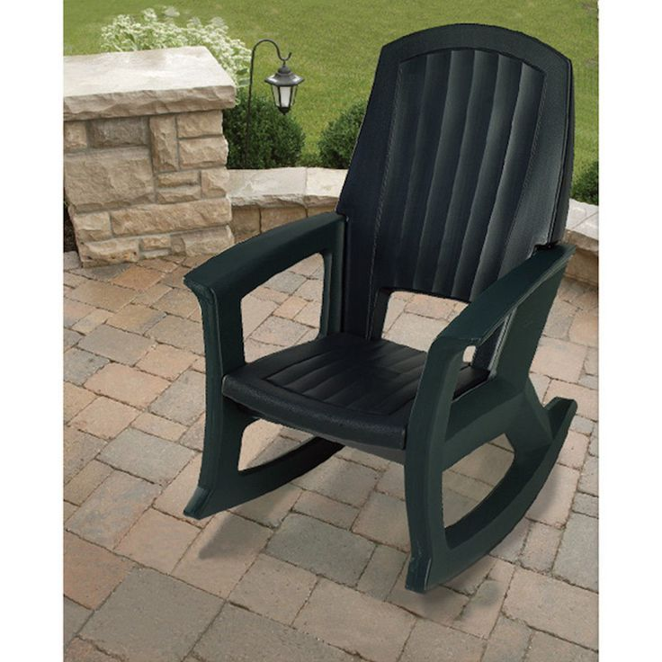 Rocking Chair Big And Tall Patio 600 LB Capacity Deck Yard Front Porch  Furniture