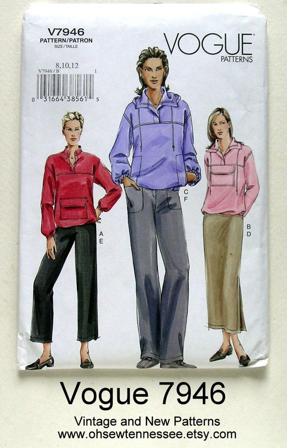 Ladies' Sportswear Separates  Vogue 7946  available at Oh Sew Tennessee on etsy.com