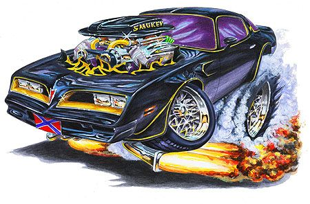 The images of the Smokey and the Bandit Trans Am on the shirts are as detailed as the art prints. Description from 1maddmax.com. I searched for this on bing.com/images