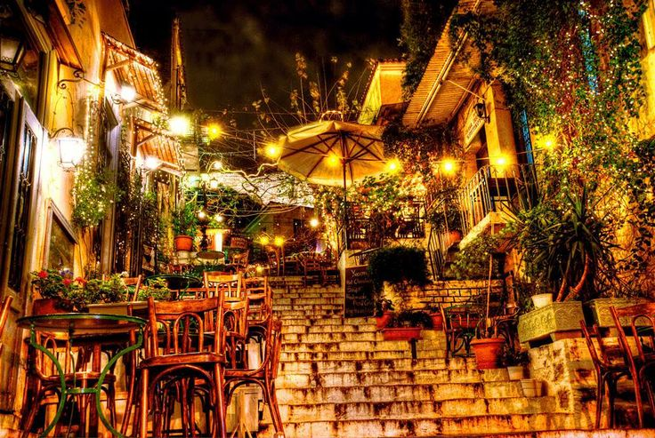 Summer night in old Athens...