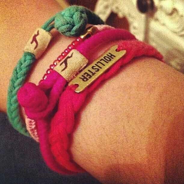 Hollister friendship bracelets<3