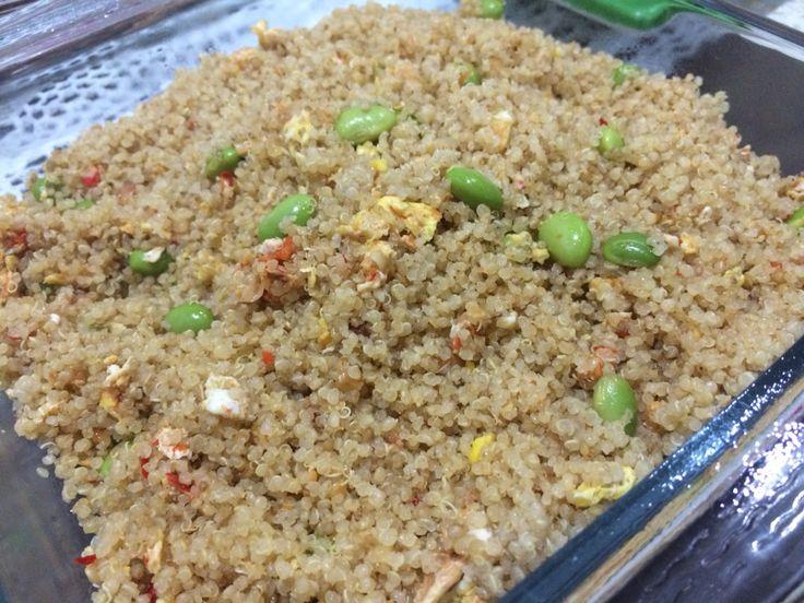 Fried Quinoa with Edamame