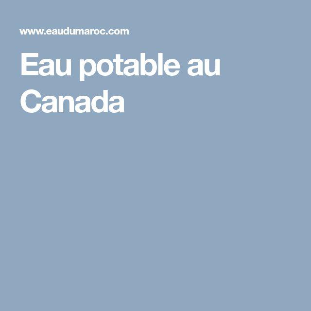 Eau potable au Canada