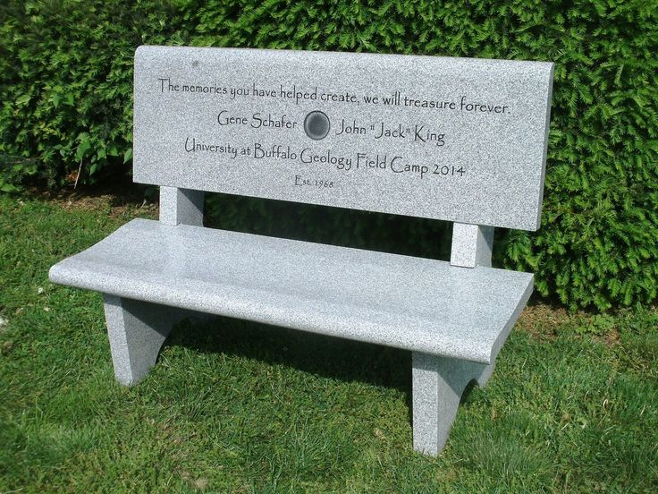 Granite Memorial Bench Gray Engraving Is Extra Benches