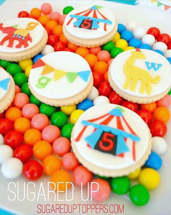 Circus Fondant Cupcake Toppers