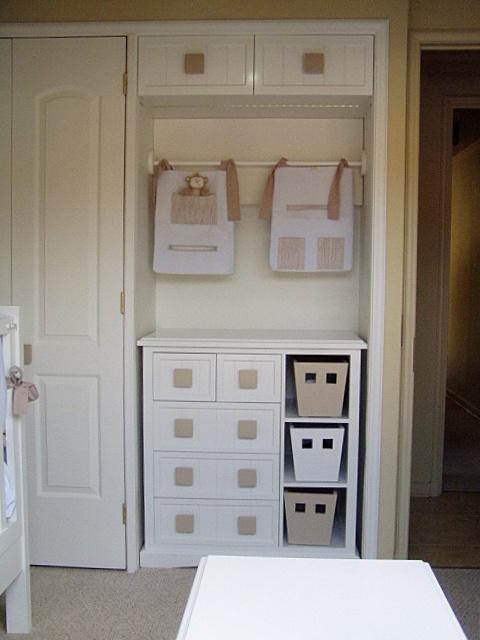 Transformacion de closet para ser utilizado de espacio mudador