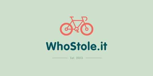 whostole.it flat logo inspiration example  #flat #logos #flatlogos