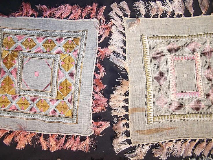 10 Ottoman Turkish Embroidery Linen Square Sampler Doily