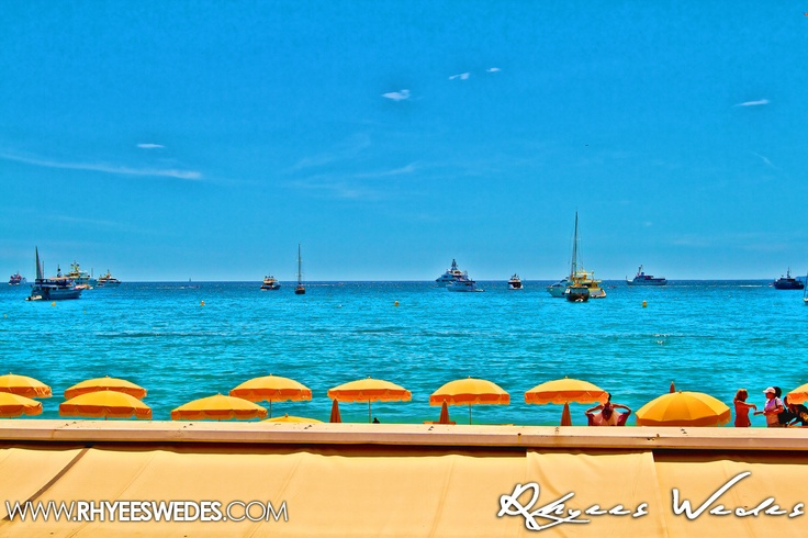 Cannes Beach On A Glorious Day Restaurant Side!!!...