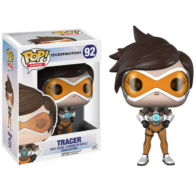 """Funko's Pop! Games presents their version of the lightening fast Tracer figure. 4"""" inch Overwatch Tracer Pop Vinyl."""