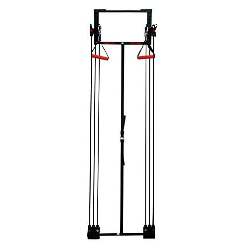 Fitness House Tower kynesis Home–Fitness Device, Unisex Adult, Black/Red, Single
