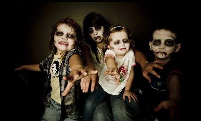 Maquillajes Halloween para niños más terroríficos y divertidos sin complicarte. Maquillajes de zombie 'The Walking Dead', maquillaje de bruja, de vampiro...
