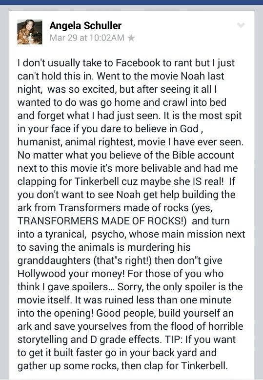 """This was my very first review which I did as a post on facebook as a rant because I hated this movie so much I couldn't keep it in and had to vent! To this movie I say """"NOOOOOOOOO!-ah"""". I give it minus a trillzillion ☆'s. I don't care that it's unreasonable and not even a number."""