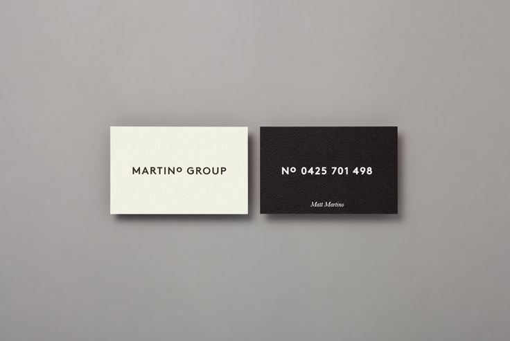 business cards forMartino Group by Studio Hi Ho