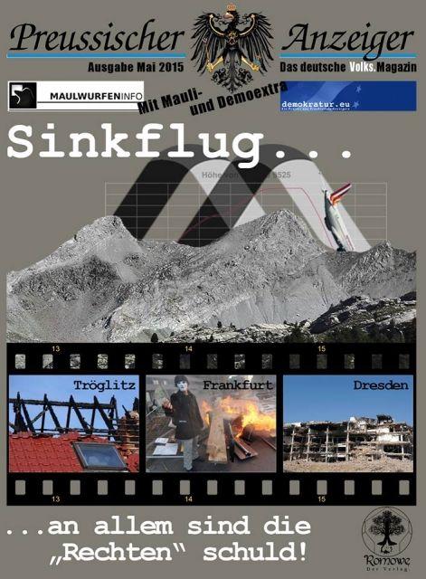 Sinkflug - Preussischer Anzeiger Mai 2015 jetzt auf http://laden.romowe.de