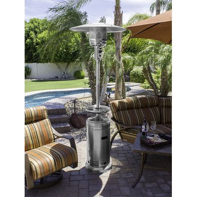 AZ Patio Heaters Tall Stainless Steel Propane Patio Heater HLDS01-W-BS,    #AZPatioHeaters,    #HLDS01WBS,    #PatioHeaters