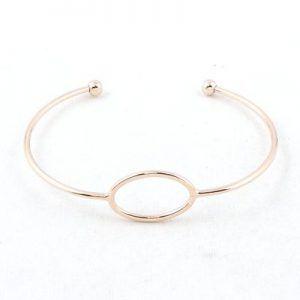 Magnifique bracelet jonc ouvert ovale d'Alexanne Paris