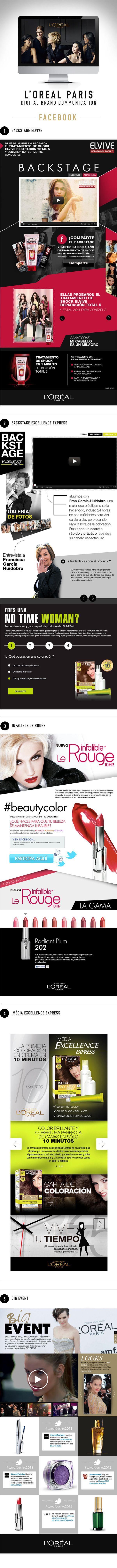 L'Oréal Paris - Facebook on Behance. http://bit.ly/1kOYZIK