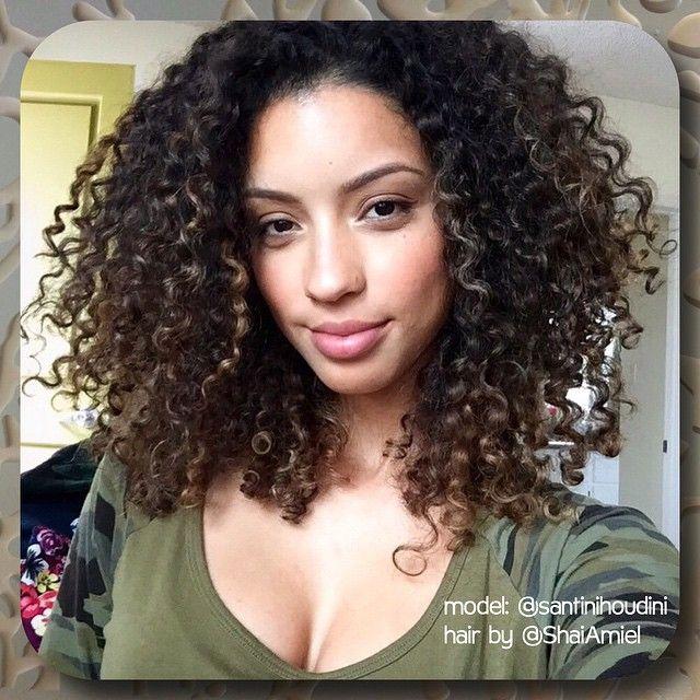 Christina Santini AKA Santini Houdini haircut and highlights with Shai Amiel www.ShaiAmiel.com