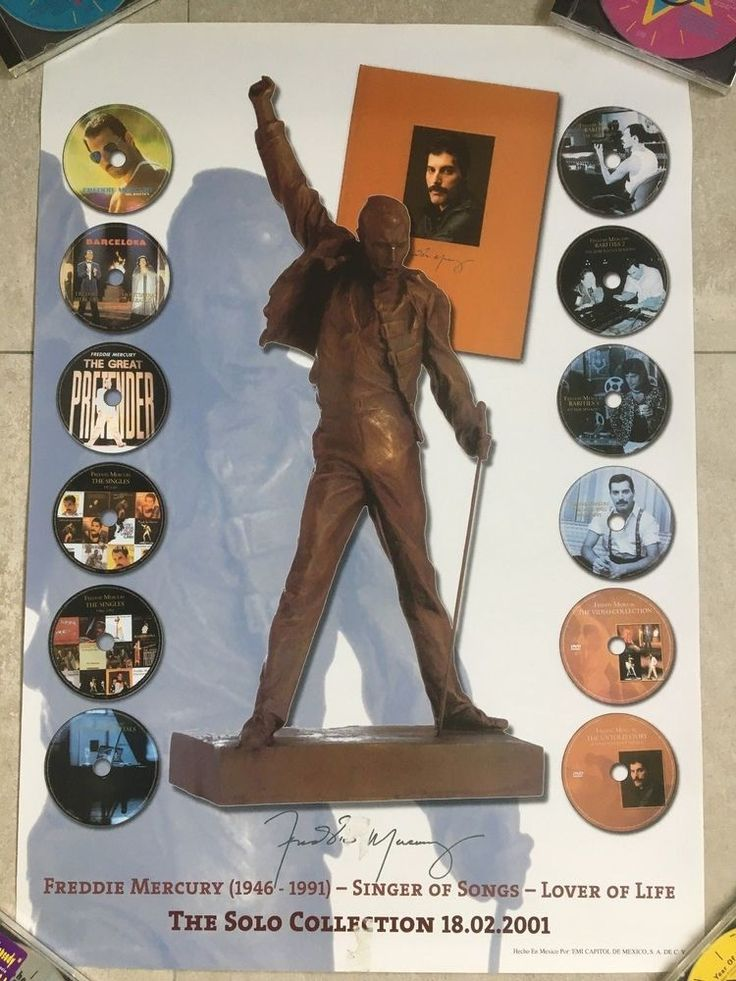 Freddie Mercury - Queen - Solo collection - MEXICO - EMI promotional poster RARE