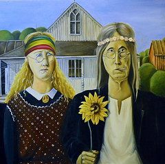 American Gothic Parody Paintings