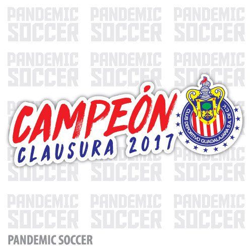 Chivas Rayadas Campeon Mexico Vinyl Sticker Decal Calcomania