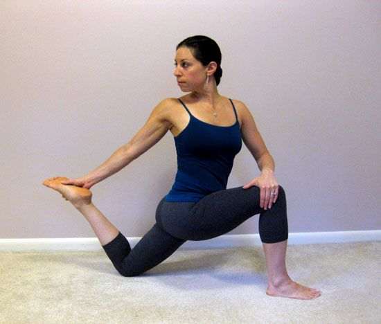 How to Stretch the Hip Flexors - A common complaint among runners and cyclists is tight hip flexors, the area in front of the hips above the quads. Here's one of my favorite ways to lengthen that area, while also getting a subtle spinal twist — two great stretches in one!