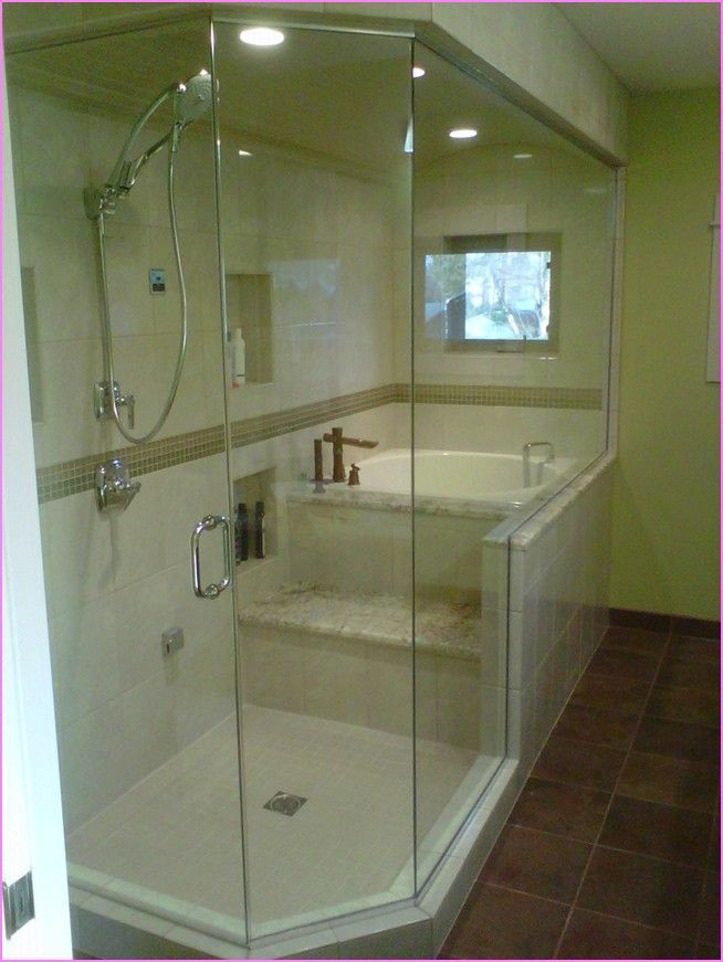 Japanese Soaking Tub Shower - the soaking tubs are short but deep. This could be a good way of fitting in a bath and shower.