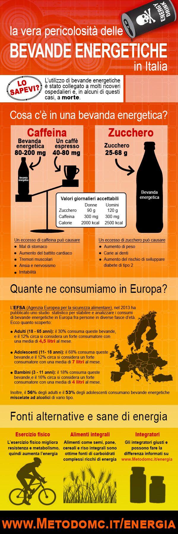 Se bevi ENERGY DRINKS (bevande energetiche) prova a guardare questi dati!  Ci sono modi migliori per recuperare le energie: http://metodomc.it/energia