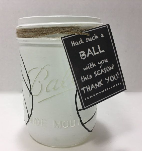 Volleyball Mason Jar Hand Painted by MonisMasonCreations on Etsy
