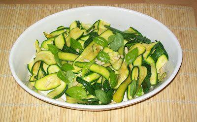 Ricette Gruppo Sanguigno: Zucchine al pesto non pestato