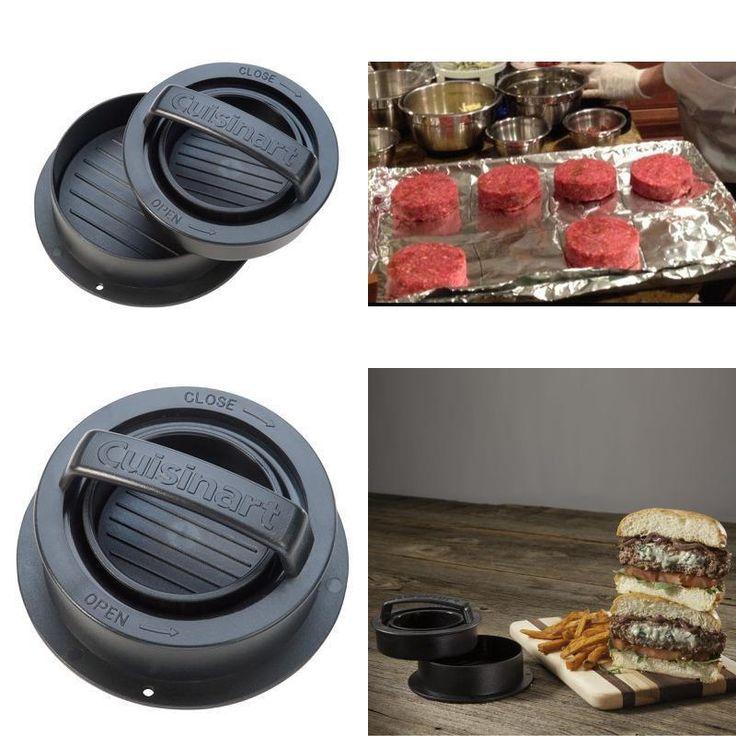 Stuffed Burger Press Non-stick Hamburger Patty Maker Grill Dishwasher Safe 3in1 #Cuisinart