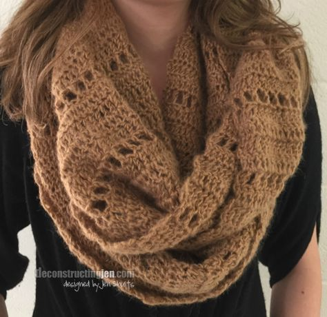Textured Crochet Infinity Scarf Pattern More