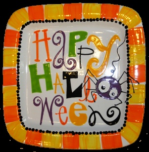 sept12bt - Halloween Pottery Plate