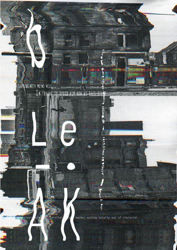 Poster - experimental - collage by James Belkevitz, via Behance