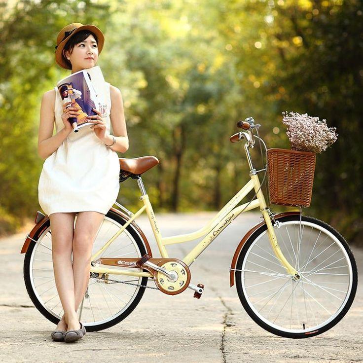 Encontre mais Bicicleta Informações sobre Grátis frete Crown king das mulheres 24 polegada da bicicleta da bicicleta suburbano senhora coreana bicicleta feminina city bike, de alta qualidade moto intenso, moto bicicletário China Fornecedores, Barato cinto de moto de Brandon's shop em Aliexpress.com