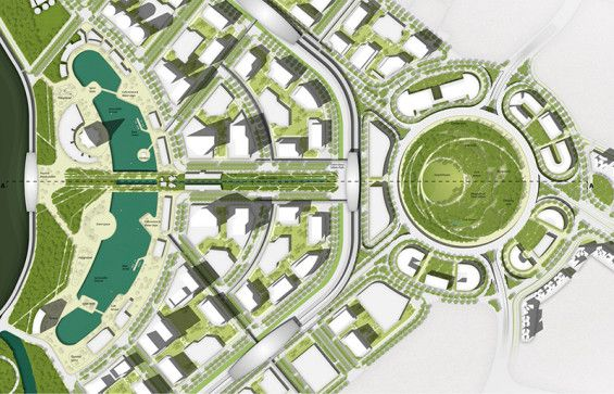 Landscape Master Plan Of GIFT City Gandhinagar India Landarch Masterplan