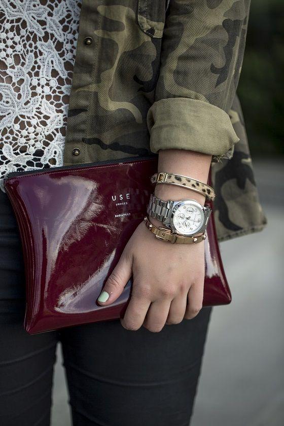 *Camo & lace - styled by Zipy* #militaryjacket #zara #lacetop #leatherpants #mac #lipstick #hm #earrings #bag #use #usebag #zipy #zipystyle #fashionblogger #outfit