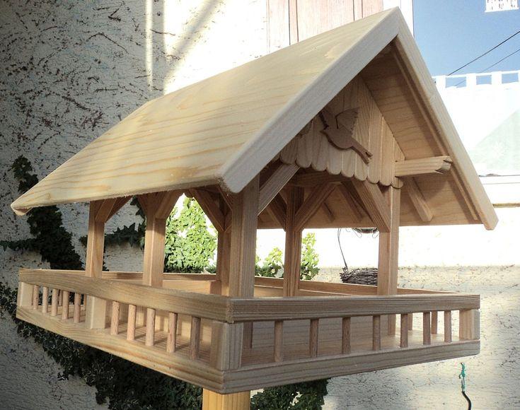 Futterhaus XXL mit Balkon Futterhaus, Haus, Vogelhaus bauen