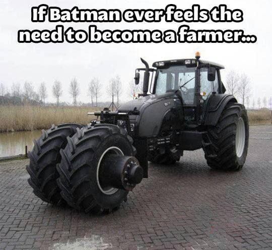 Cool, Batman tractor...