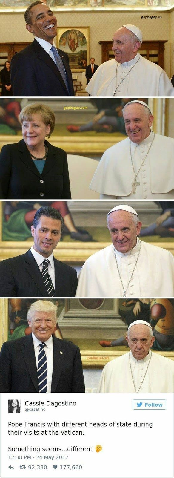 Gap Ba Gap: Top 5 Funny Pictures Of Pope vs. Head Of States