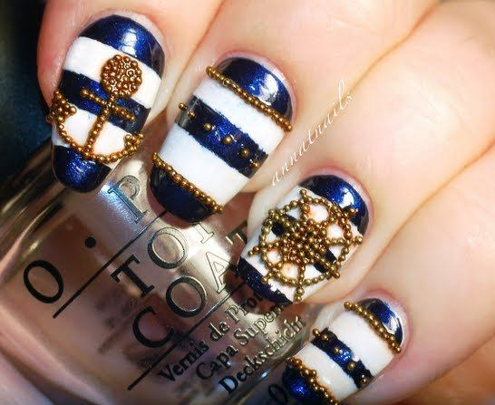 Maybe not the beading on or under the navy on the nails without the accents like the anchor but other than that I really like this