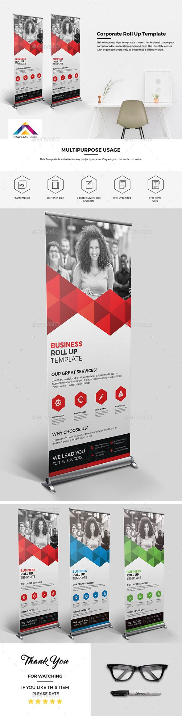 222 best Roll up Banner images on Pinterest | Banner template ...