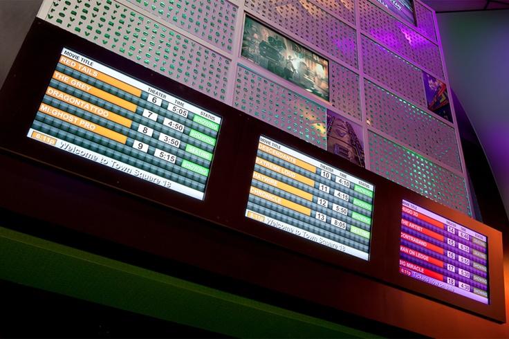 Showtimes at Rave Cinema Las Vegas, noting auditorium status dynamically.