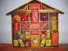 History of Advent calendar - came from German Lutherans - who knew??