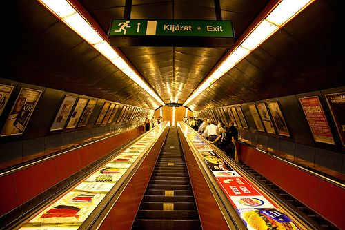 hungarian metro.  Super cool ride your first time.